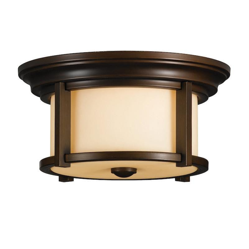 Elstead Merrill Heritage Bronze Finish Outdoor Flush Lantern