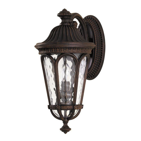 Elstead Regent Court Walnut Finish Medium Outdoor Wall Lantern