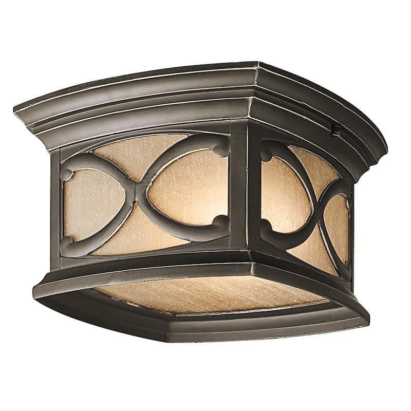 Elstead Franceasi Olde Bronze Finish Outdoor Flush Lantern