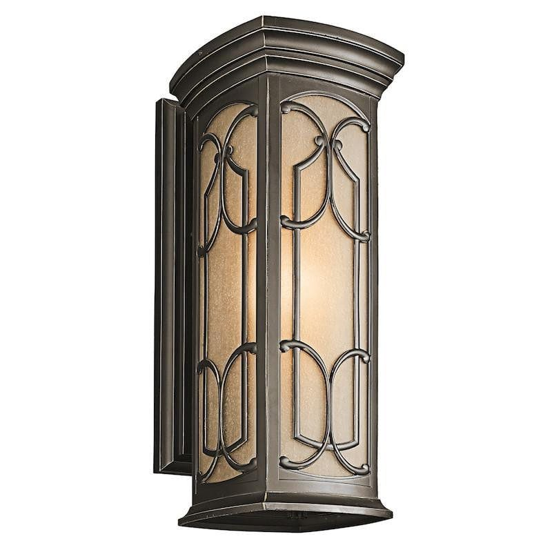 Elstead Franceasi Olde Bronze Finish Large Outdoor Wall Lantern