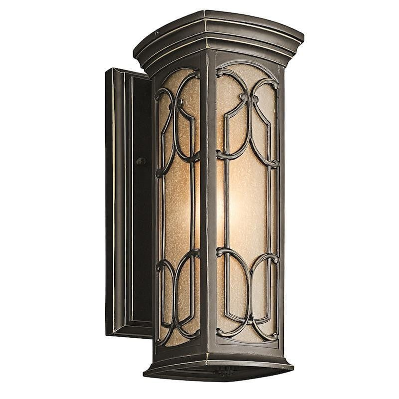 Elstead Franceasi Olde Bronze Finish Small Outdoor Wall Lantern
