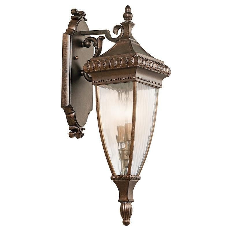 Elstead Venetian Rain Brushed Bronze Medium Outdoor Wall Lantern