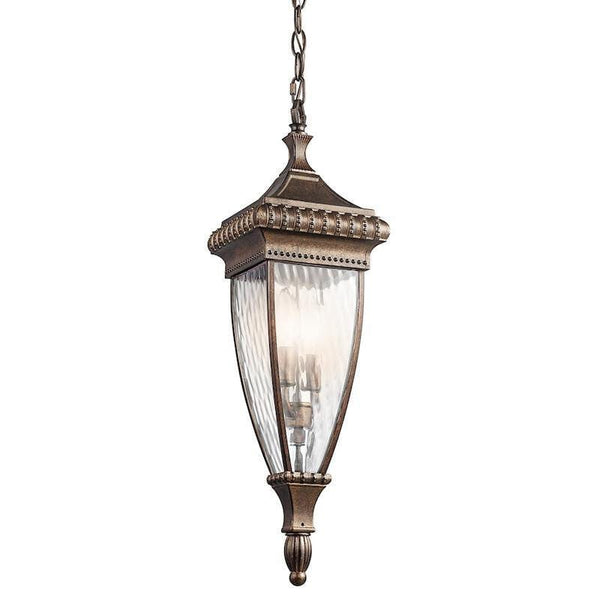 Elstead Venetian Rain Brushed Bronze Outdoor Pendant Lantern