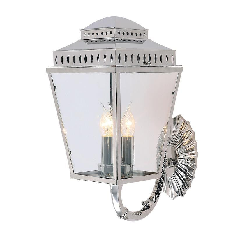 Elstead Mansion House Polished Nickel Finish Outdoor Wall Lantern