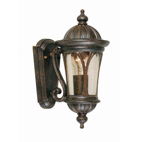 Elstead New England Weathered Bronze Small Outdoor Wall Lantern