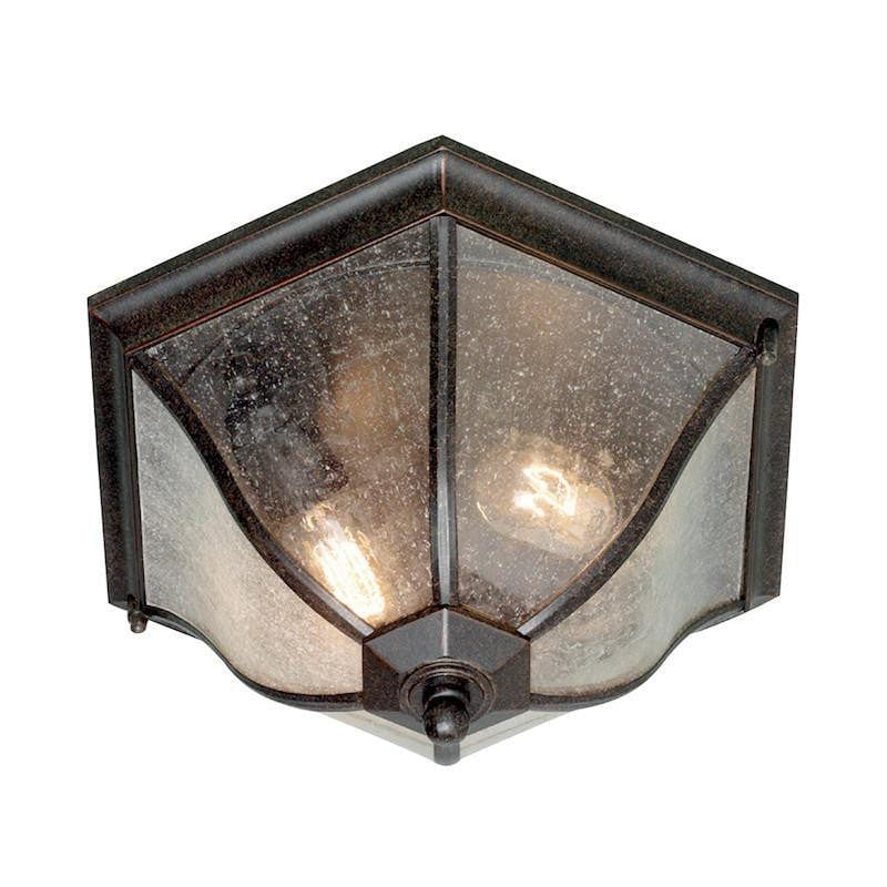 Elstead New England Weathered Bronze Outdoor Flush Lantern
