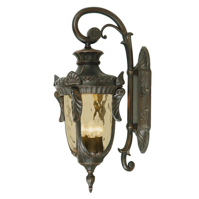 Elstead Philadelphia Old Bronze Finish Large Outdoor Downlighter Wall Lantern