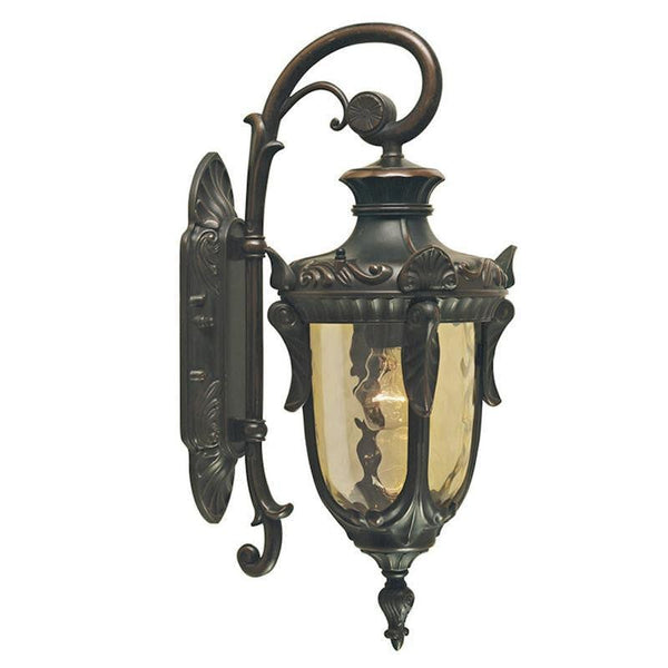 Elstead Philadelphia Old Bronze Finish Small Outdoor Downlighter Wall Lantern