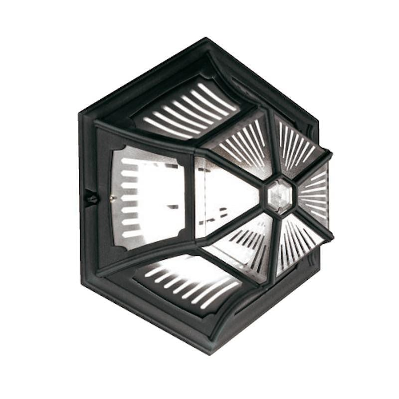 Elstead Parish Black Finish Outdoor Flush Lantern