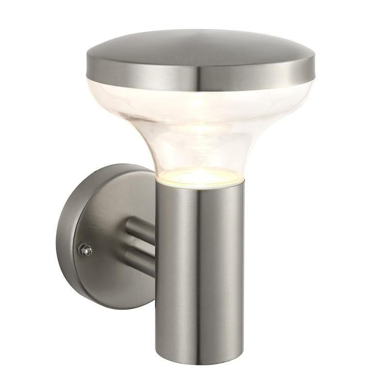 Endon Roko Marine Grade Brushed Stainless Steel Finish Outdoor Wall Light 67701