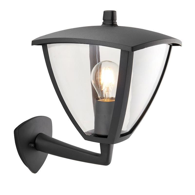 Endon Inova & Seraph Textured Gray Finish Outdoor Wall Light 70695