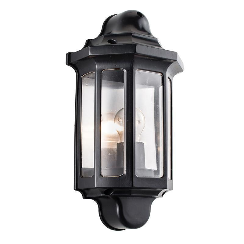 Endon Traditional Satin Black Finish Outdoor Wall Light 1818S