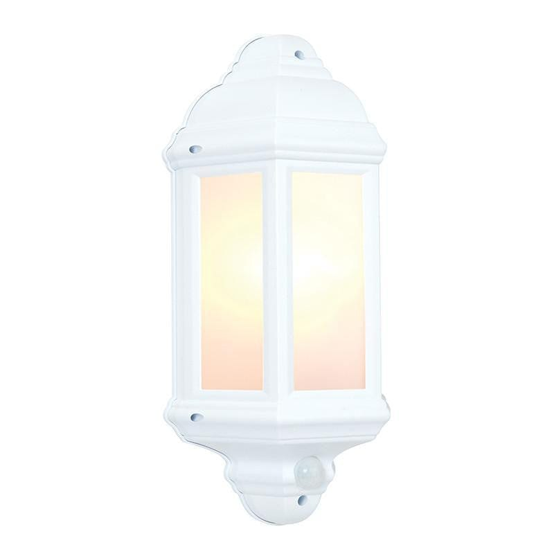 Endon Hulbury Pir Matt White Textured Finish Outdoor Wall Light 64665