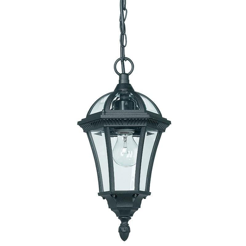 Endon Drayton Textured Black Finish Outdoor Pendant Light YG-3503