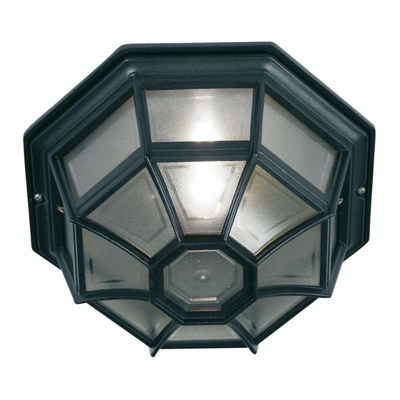 Oaks Aden Black Finish Outdoor Flush Light 140 BK by Oaks Lighting