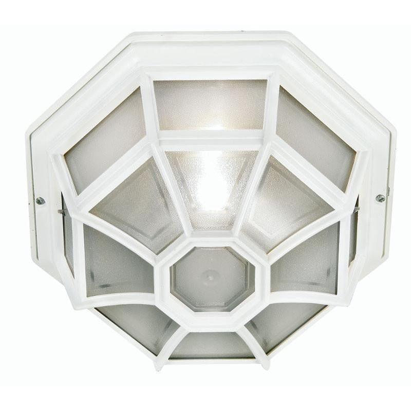 Oaks Aden White Finish Outdoor Flush Light 140 WH by Oaks Lighting