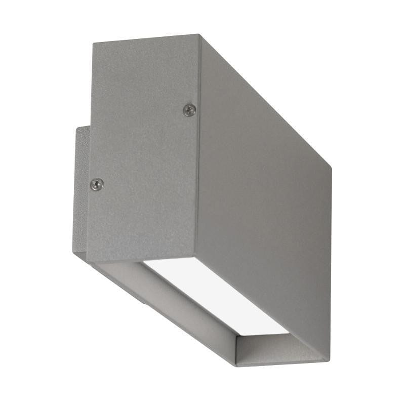 Oaks Burze Silver Grey Finish Outdoor LED Wall Light 167 SG by Oaks Lighting