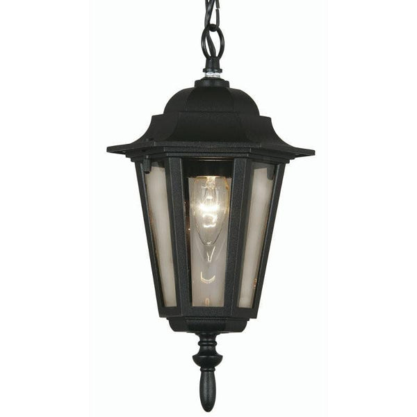 Oaks Haxby Black Finish Outdoor Pendant Light 171 CHAIN BK by Oaks Lighting