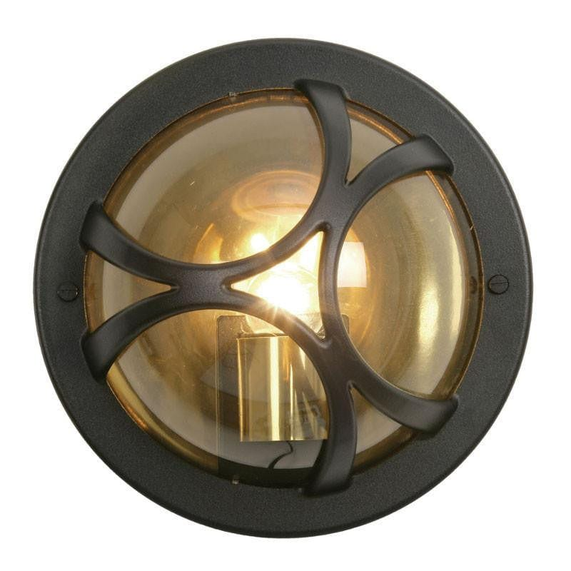 Oaks Holford Black Finish Outdoor Flush Light 210 BK by Oaks Lighting