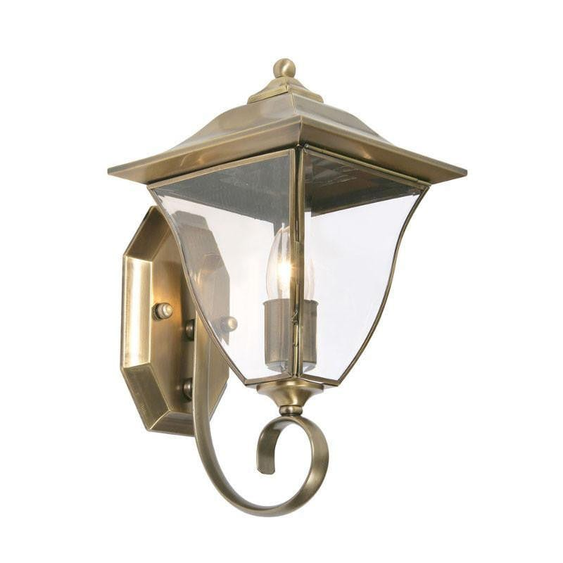 Oaks Callan Brass Finish Outdoor Uplighter Wall Light 581UP BR by Oaks Lighting