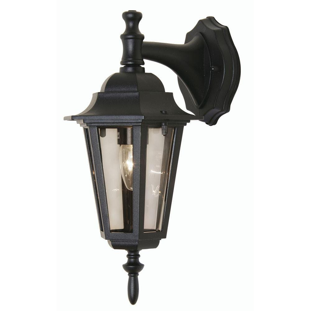 Outdoor Wall Lights - Haxby Black Outdoor Downlighter Wall Light 171 DN BK