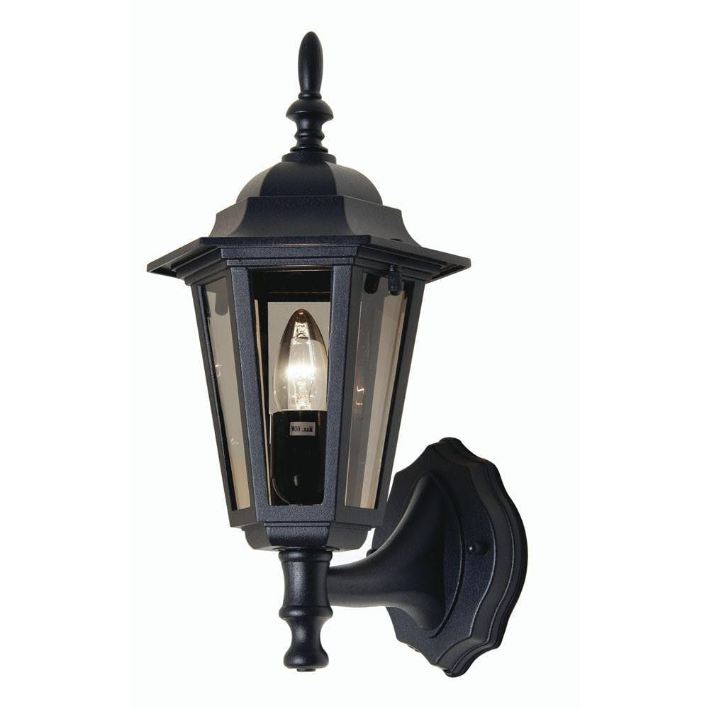 Outdoor Wall Lights - Haxby Black Outdoor Uplighter Wall Light 171 UP BK