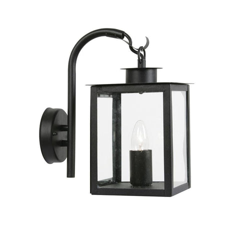 Outdoor Wall Lights - Saxton Black Outdoor Uplighter Wall Light 536 DN BK