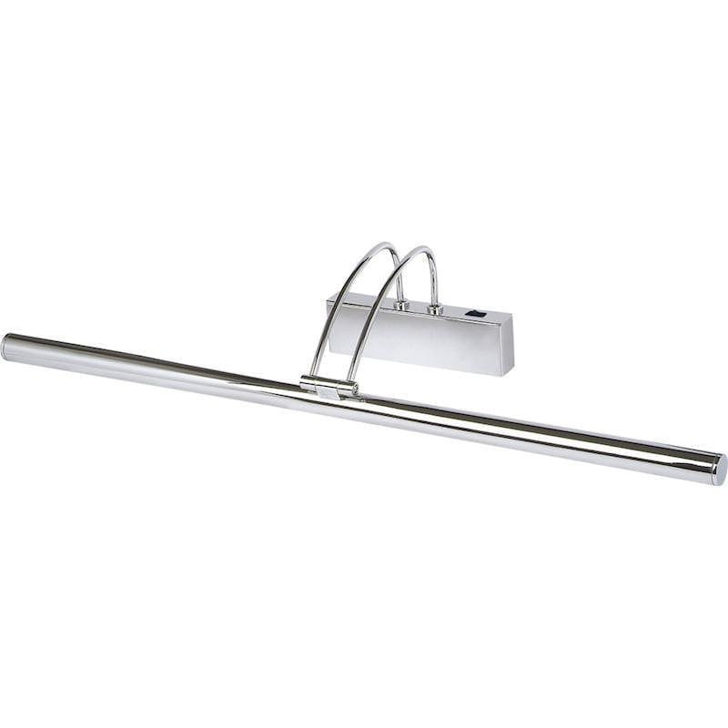 Picture Lights - Searchlight Chrome Finish Slimline Picture Light With Adjustable Head 8343 CC
