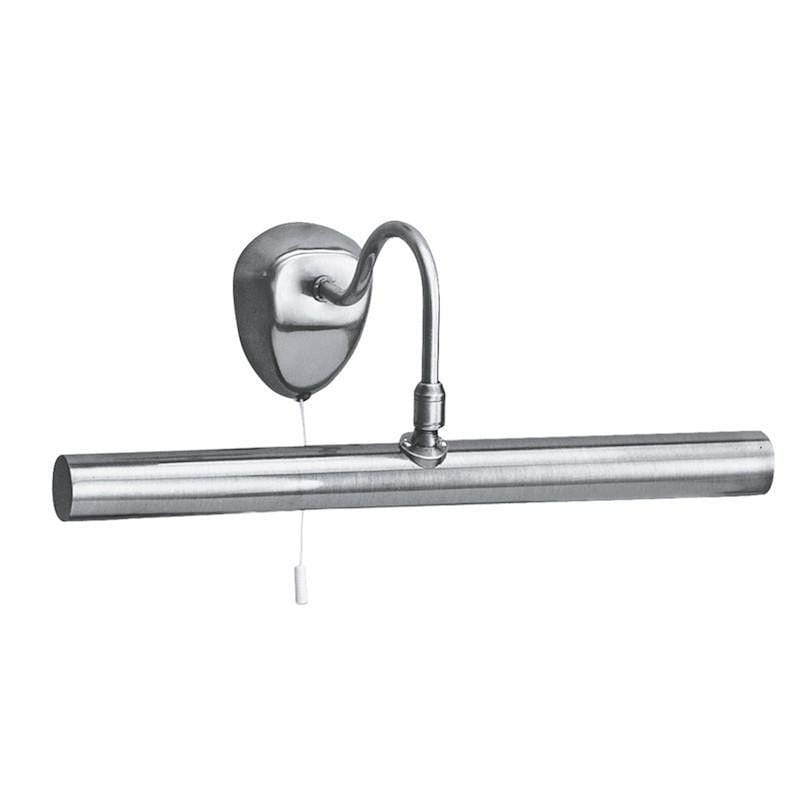 Picture Lights - Searchlight Satin Silver Finish 2 Light Picture Light With Adjustable Knuckle Joint