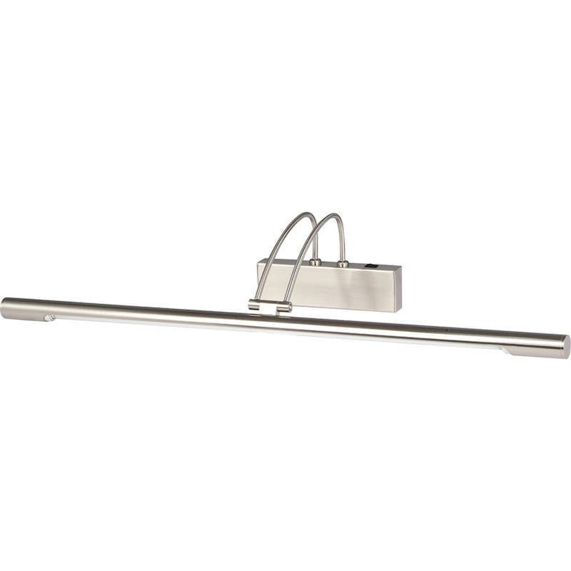 Picture Lights - Searchlight Satin Silver Finish Slimline Picture Light With Adjustable Head