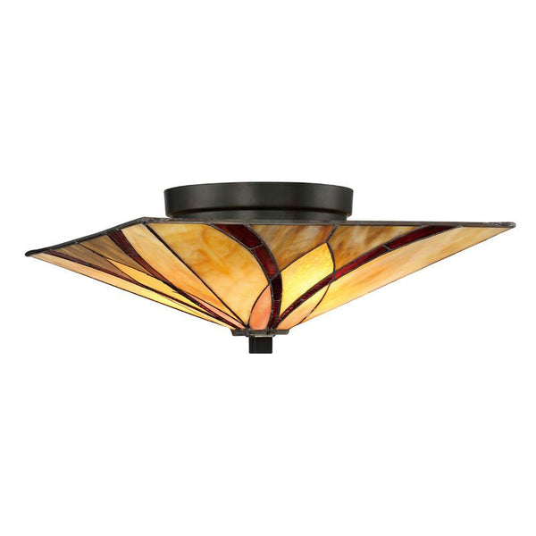 Asheville Flush Tiffany Ceiling Light