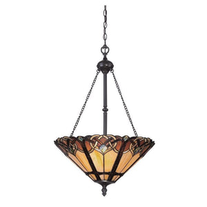 Cambridge Inverted Tiffany Ceiling Light by Elstead Lighting