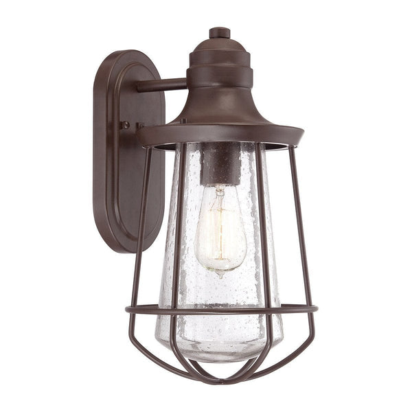 Elstead Marine Western Bronze Finish Medium Outdoor Wall Lantern