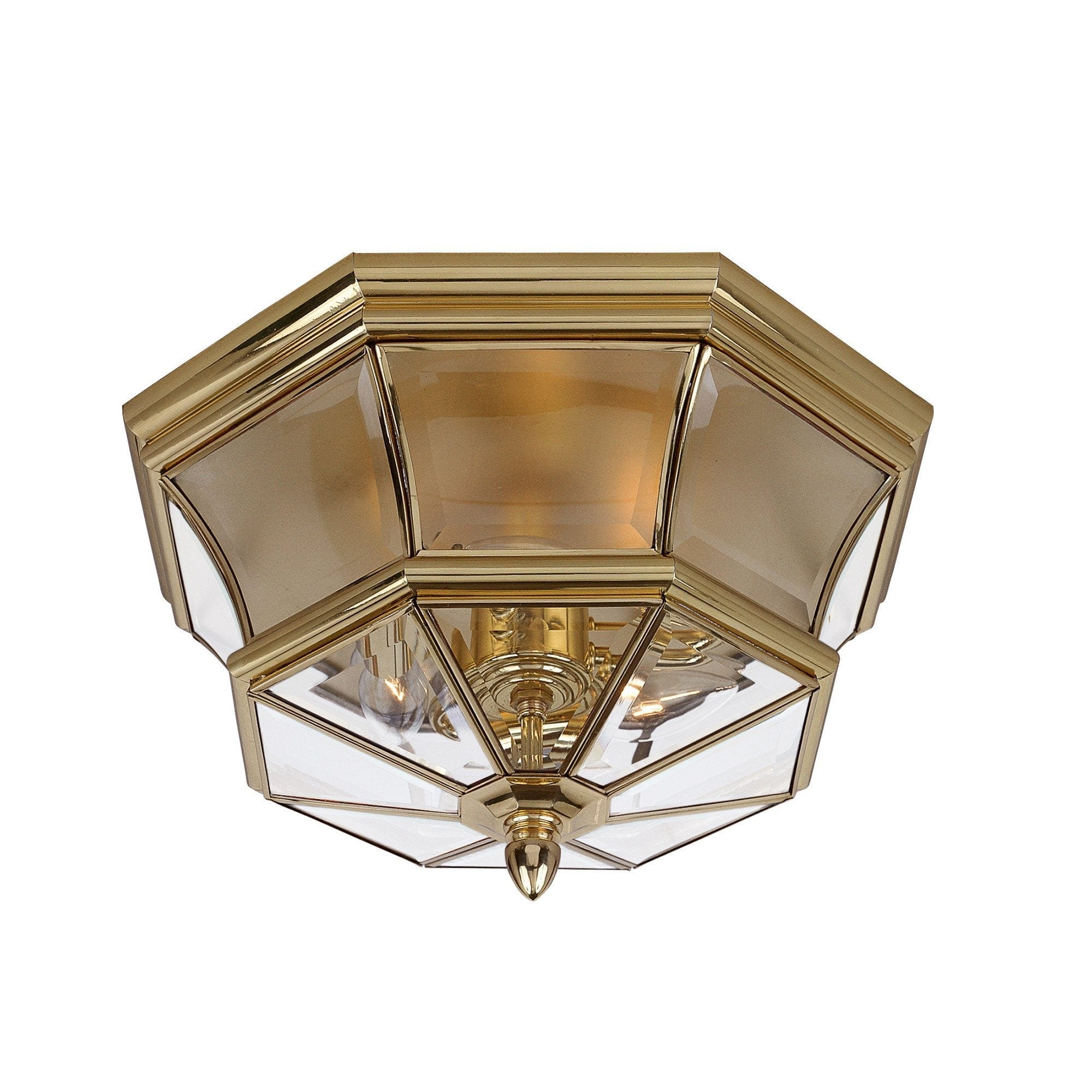Elstead Newbury Polished Brass Outdoor Flush Lantern
