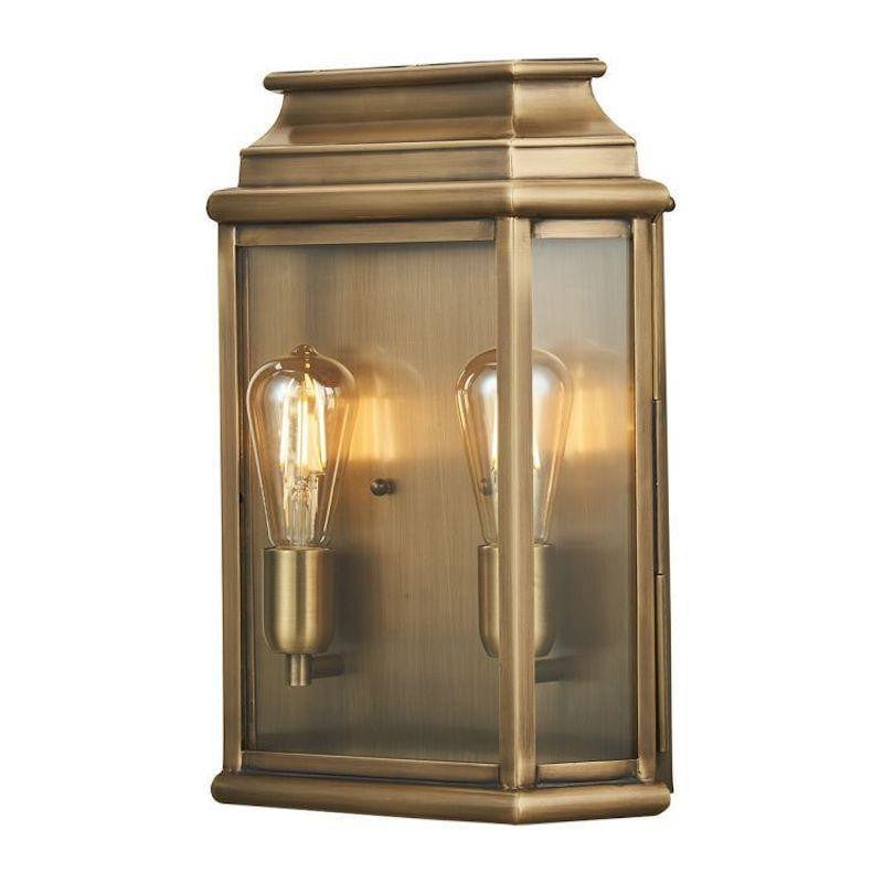 Elstead St Martins Large Aged Brass Outdoor Wall Light by Elstead Outdoor Lighting