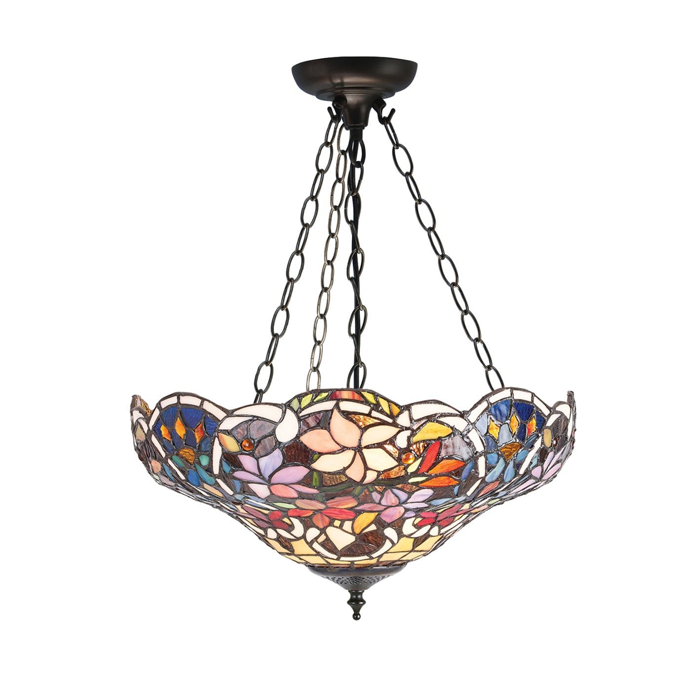 Sullivan Inverted Tiffany Ceiling Light by Interiors 1900