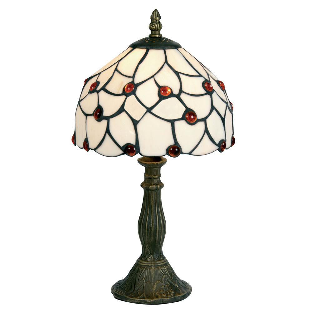 Tiffany Bedside Lamps - Amber Beads Tiffany Bedside Lamp OT 60 AB