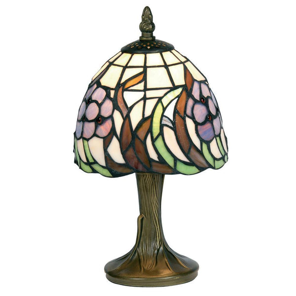 Tiffany Bedside Lamps - Blue Flower Tiffany Bedside Lamp OT 50 BF