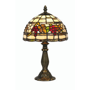 Tiffany Bedside Lamps - Oaks Tiffany Grapes Bedside Lamp OT 6018/8TL