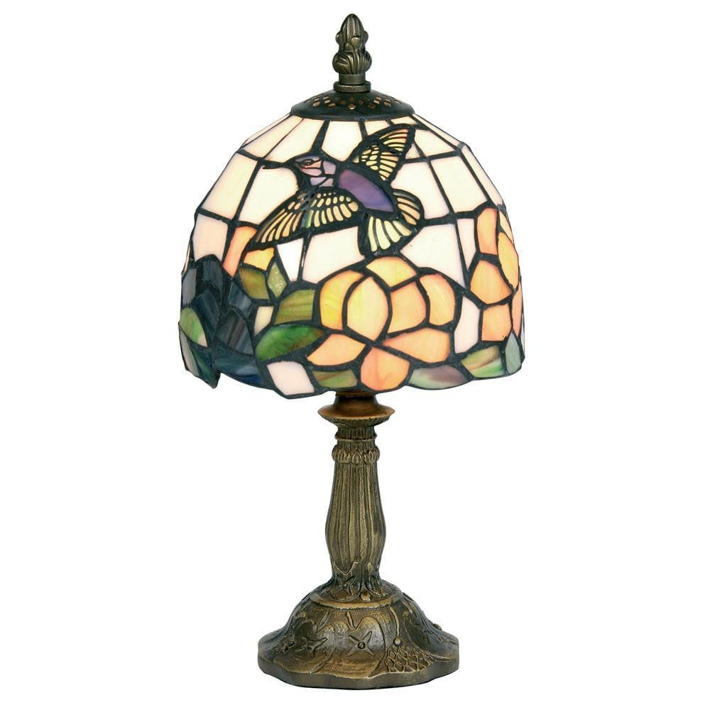 Tiffany Bedside Lamps - Oaks Tiffany Humming Bird Bedside Lamp OT 50 HB