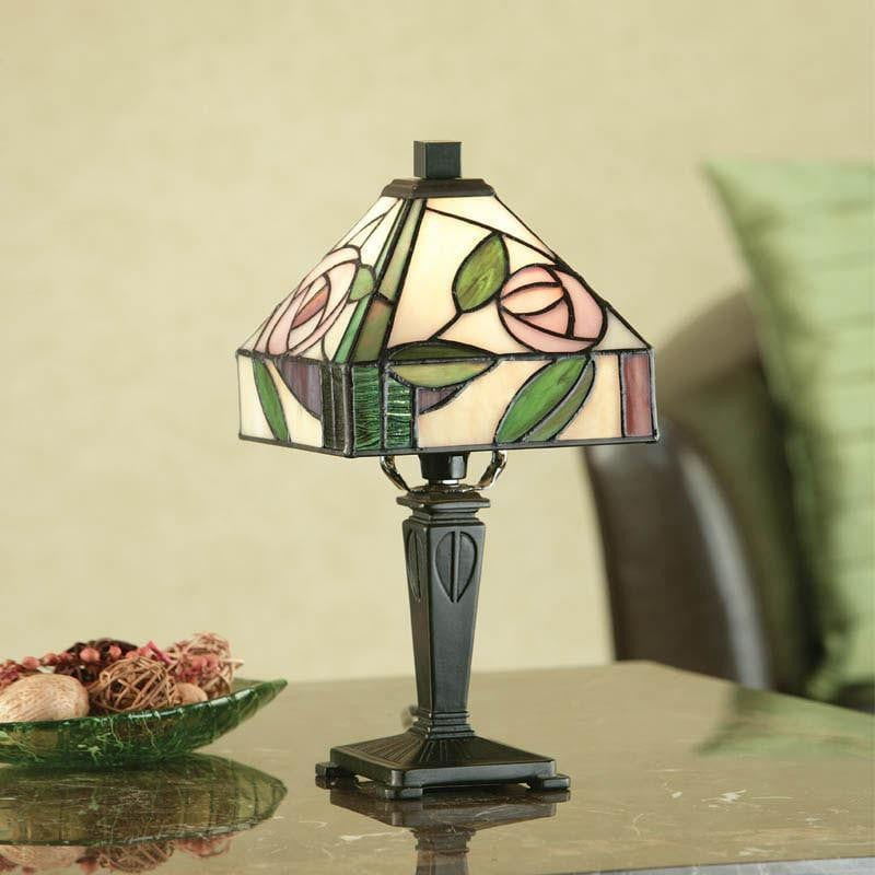 Tiffany Bedside Lamps - Willlow Mini Tiffany Lamp 64388