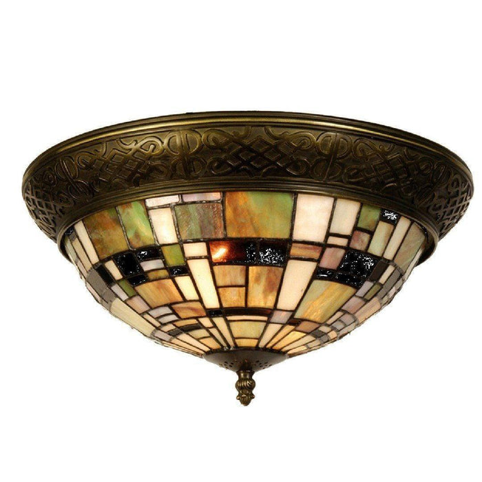 Falling Water Tiffany Flush Ceiling Light