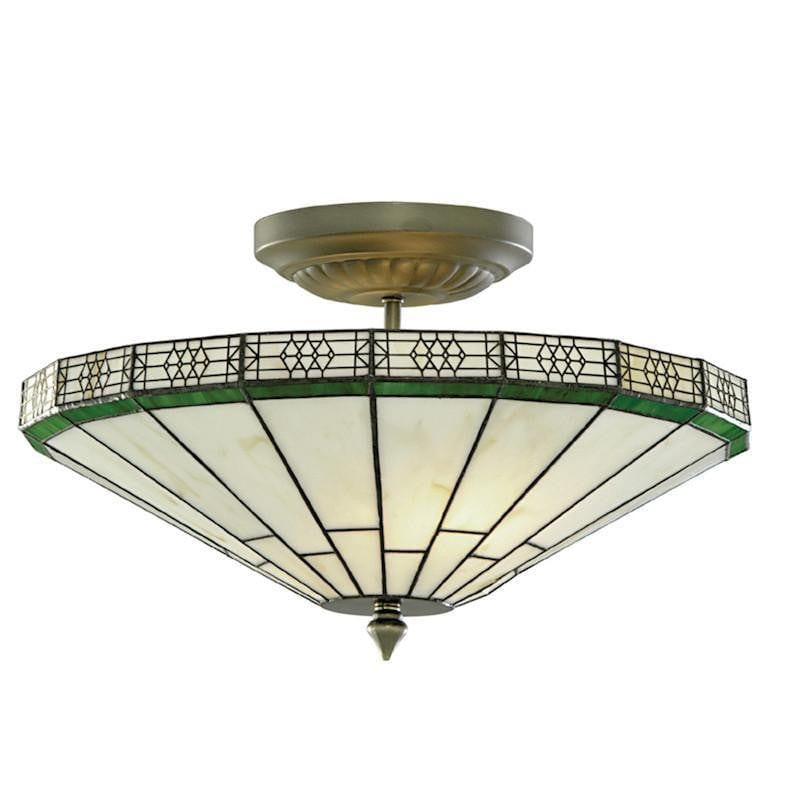 Tiffany Ceiling Flush & Semi Flush Lights - New York Tiffany Semi Flush Ceiling Light 4417-17