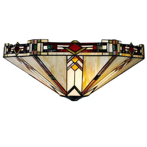 Tiffany Ceiling Flush & Semi Flush Lights - Prairie Tiffany Ceiling Flush Light