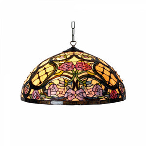 Tiffany Ceiling Pendant Lights - Anders Tiffany Ceiling Light 1 Bulb