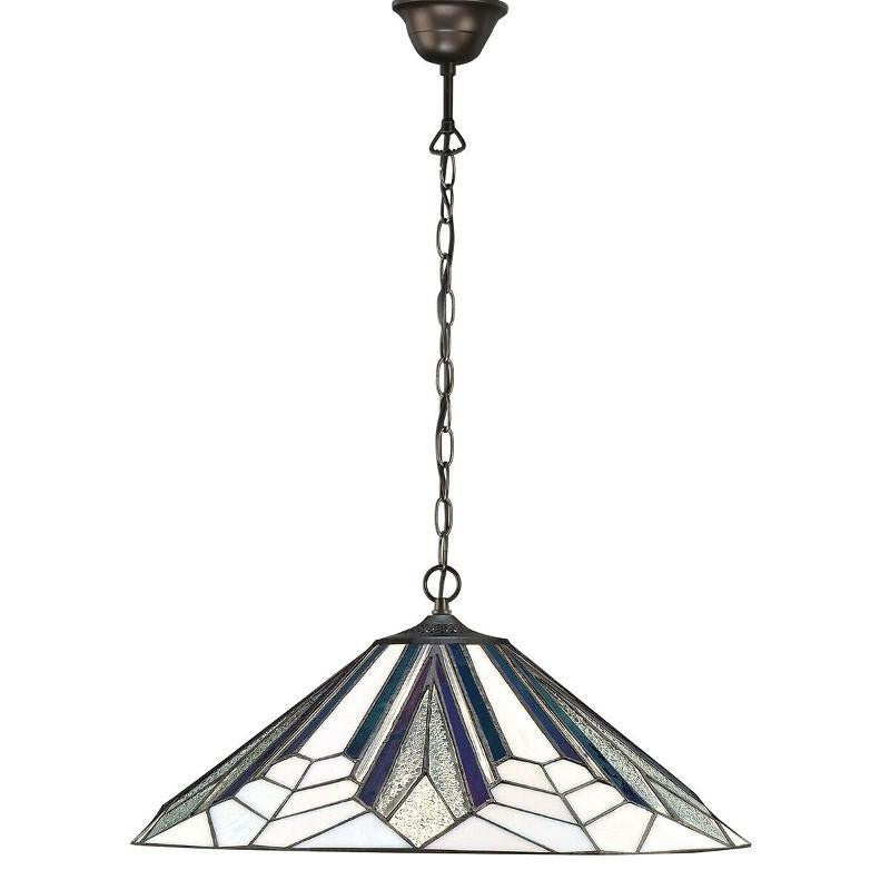Astoria Large Tiffany Ceiling Light, 3 bulb fitting