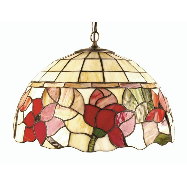 Tiffany Ceiling Pendant Lights - Border Large Tiffany Ceiling Light,Single Bulb Fitting OT 4382/20P