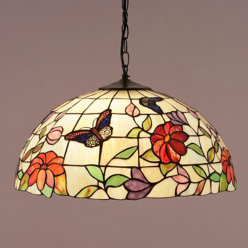 Tiffany Ceiling Pendant Lights - Butterfly Large Tiffany Ceiling Light,Single Bulb Fitting