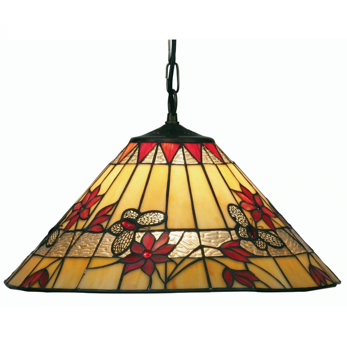 Tiffany Ceiling Pendant Lights - Butterfly Tiffany Ceiling Light,Single Bulb OT 2612/17P