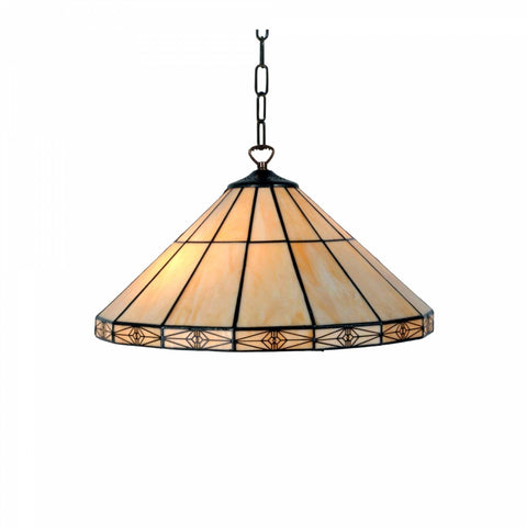 Dorchester Large Tiffany Ceiling Light 2 Bulb Pull Chain